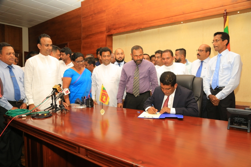 Hon. Johnston Fernando Assumed Duties as Minister of Roads and Highways